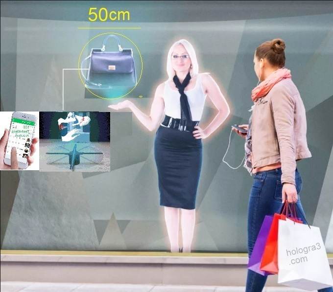 application digital signage holographic